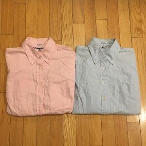 J crew bundle button down pink and blue